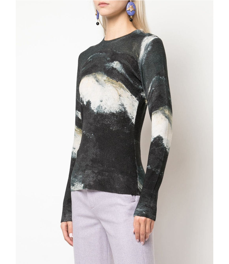 Samantha Sung Black winter Sea Carolina Pullover