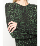 Samantha Sung Hunter Green Krugger Leopard Carolina Pullover