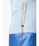 I am Chen Drawstring Top Light Blue
