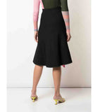 I am Chen Front Open Skirt Black
