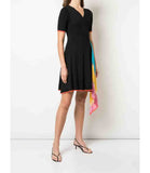 I am Chen Cross Cloth Dress Black