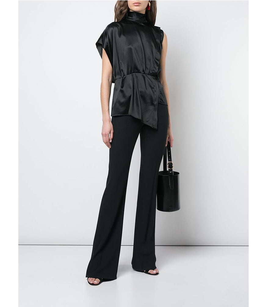 Federica Tosi Nero Sleeveless Collar Shirt