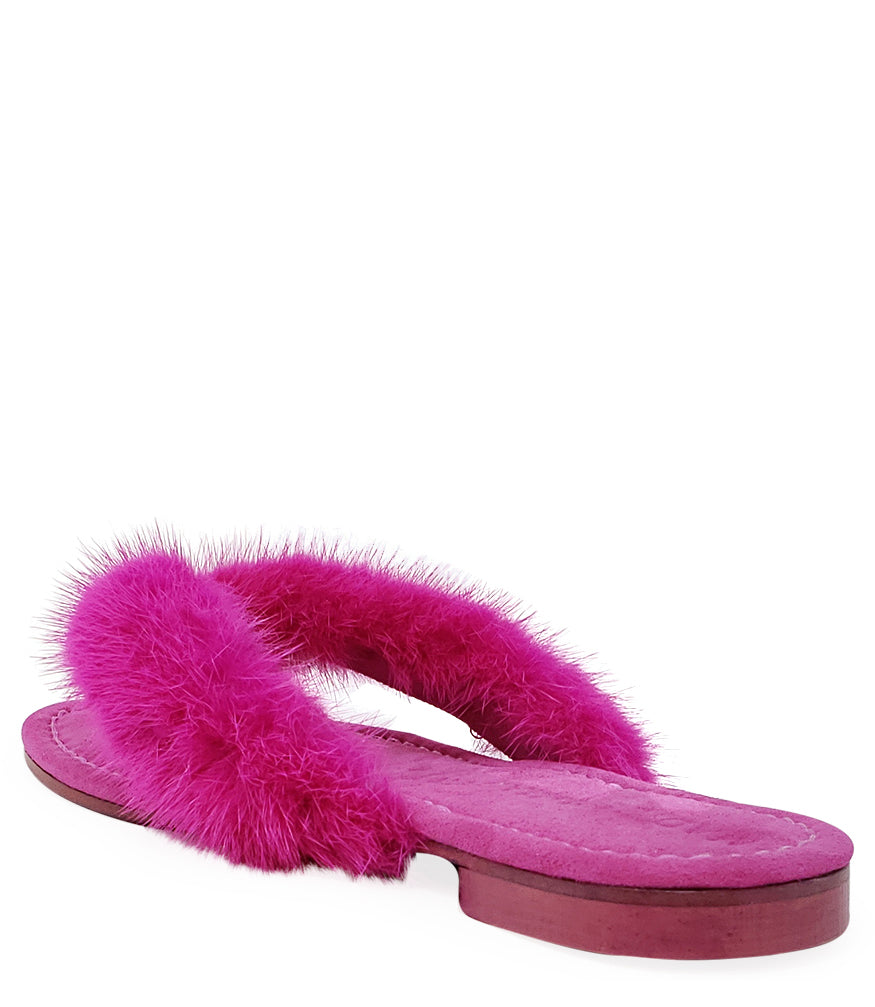 Madison Maison Fuschia Thong Mink Sandal
