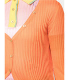 I Am Chen Orange Silk Cardigan