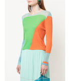 I Am Chen Green Silk Top