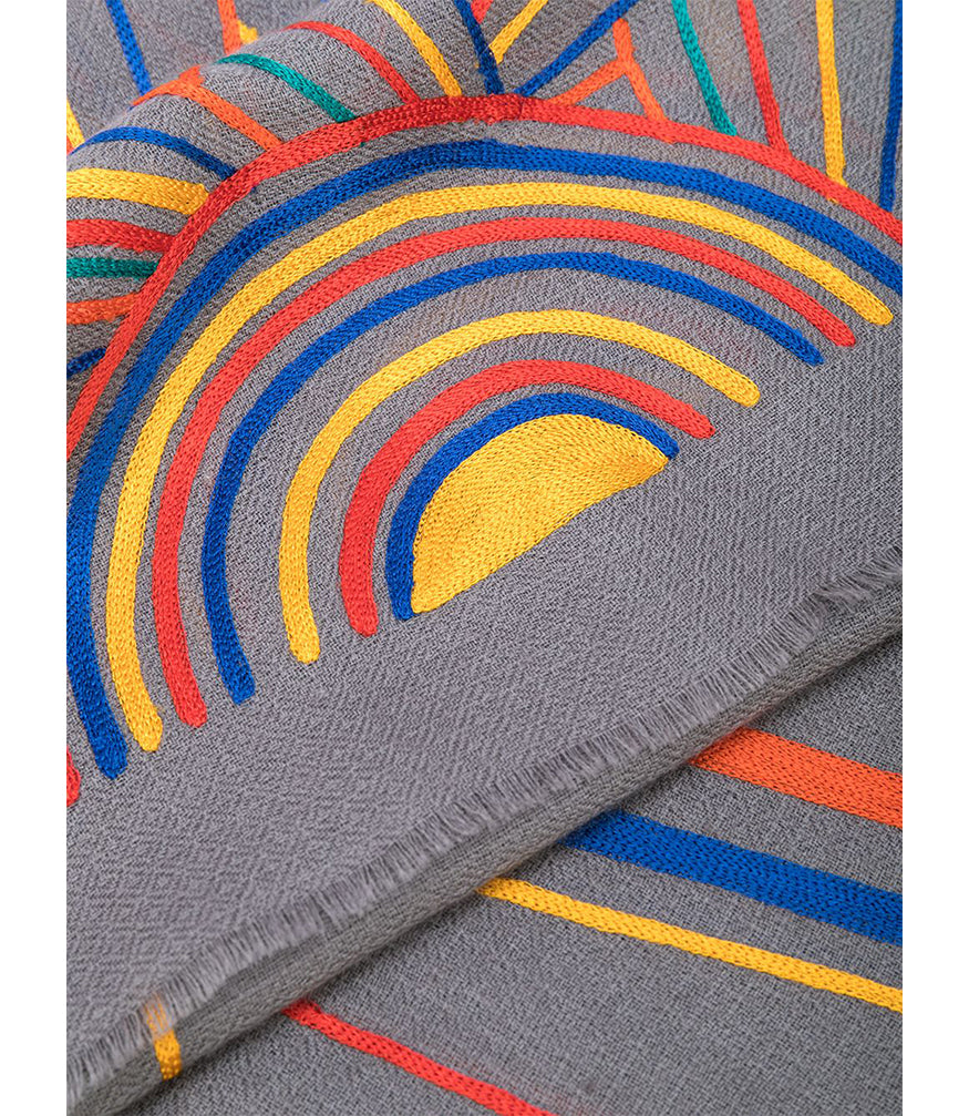 K. JANAVI SUNRISE MULTI COLORED SCARF