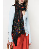 K. JANAVI SUNRISE BLACK SCARF