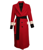 Loden Tal Oversized Boxer Red Coat