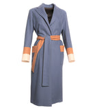 Loden Tal Oversized Boxer Light Blue Coat