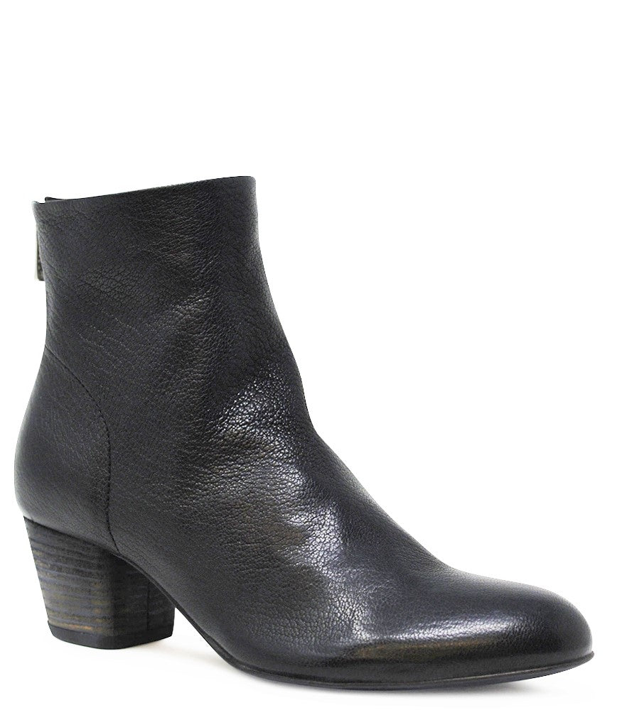 Black Leather Jeannine/001 Ankle Boot