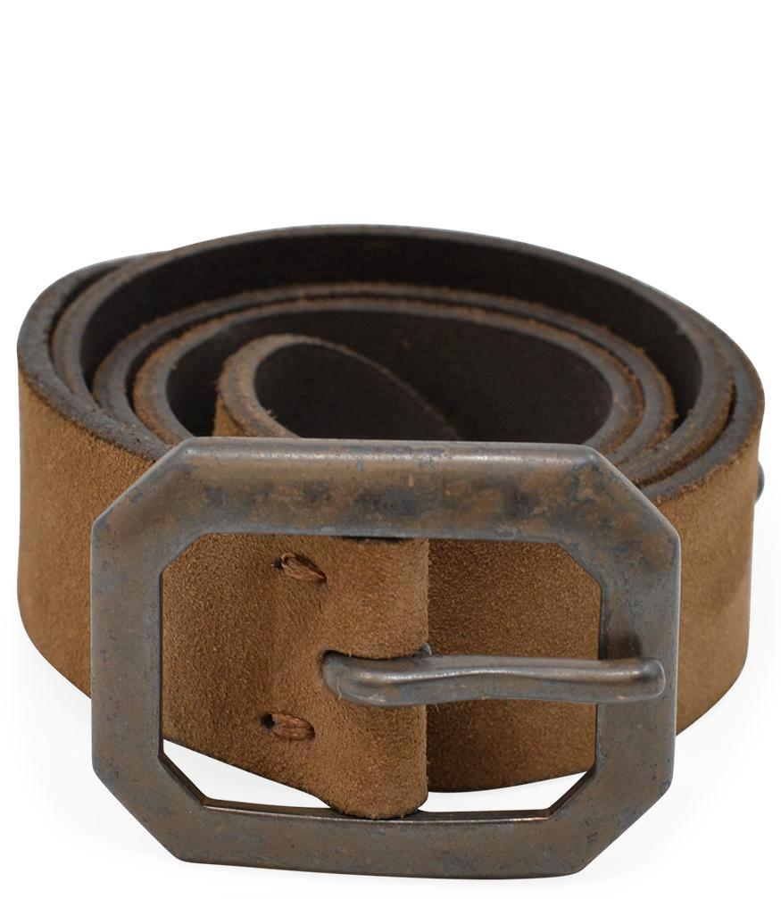 Riccardo Forconi Brown 3763 Suede Belt