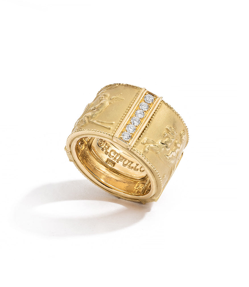 RENATO CIPULLO DIAMOND ROMANTICA RG YELLOW GOLD