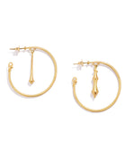 RENATO CIPULLO LARGE POMPEII HOOPS YELLOW GOLD