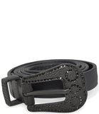 RICCARDO FORCONI BLACK 3858 LEATHER BELT