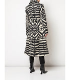 Samantha Sung Antonina Zebra Ivory Black Coat