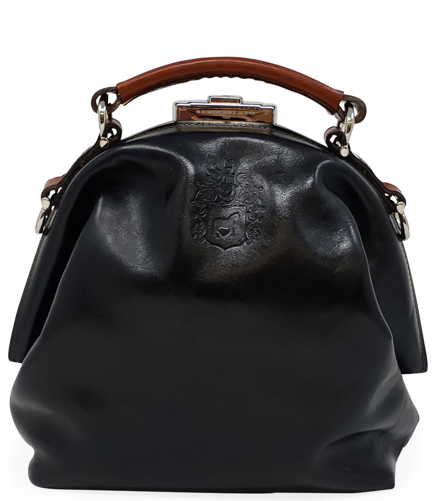 Seroussi CO. Black/Cognac Leather Handbag
