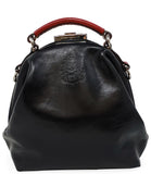 Seroussi CO. Navy/Red Leather Handbag