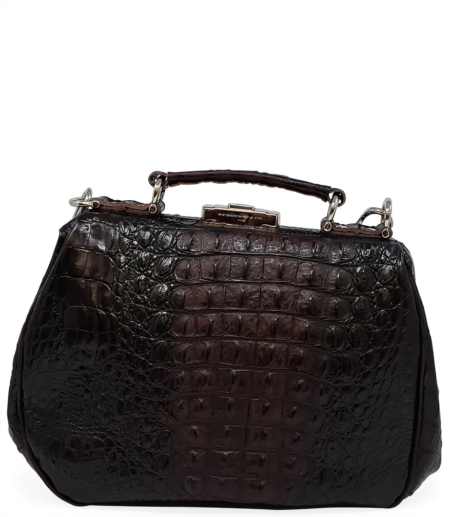 Seroussi CO. Brown Croc Leather Handbag