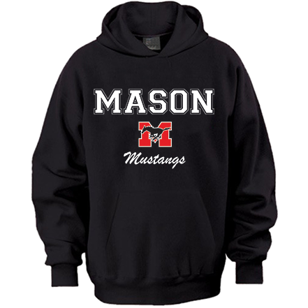 Hoodie - Black with white lettering