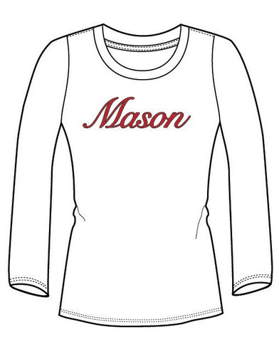 Women's Long Sleeve Fitted T-Shirt - WHITE