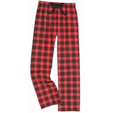 Flannel Pants-Red & Black