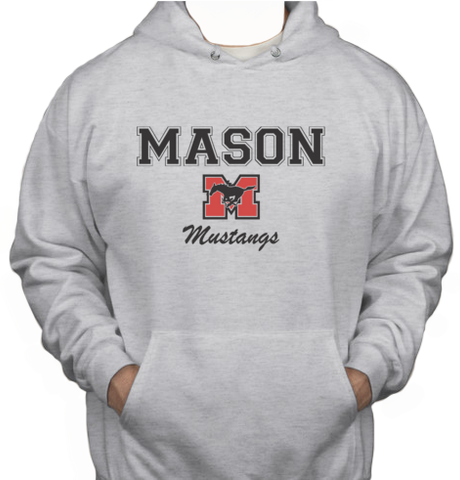 Hoodie - Grey with black lettering