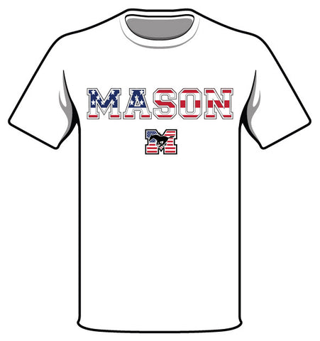 Short-Sleeve White Mason Flag T-shirt