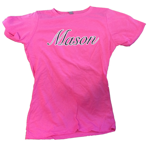 Women's Short Sleeve Fitted Pink T-Shirt