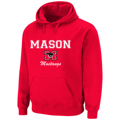 Hoodie - Red with white lettering