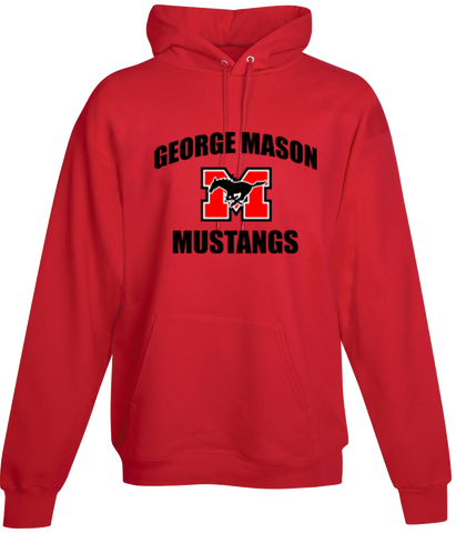 Hoodie - Red with black lettering