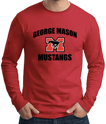 Long Sleeve T-Shirt - Red with black lettering