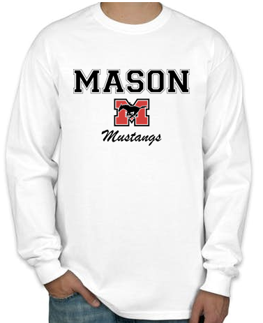 Long Sleeve T-Shirt - White with Black Lettering
