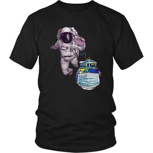 astronaut shirt - District Unisex Shirt / Black / S - T-shirt