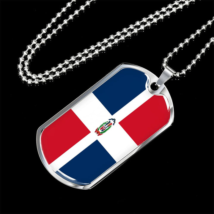 Dominican Republic Dog Tag Gold/silver With Custom Engraving - Jewelry