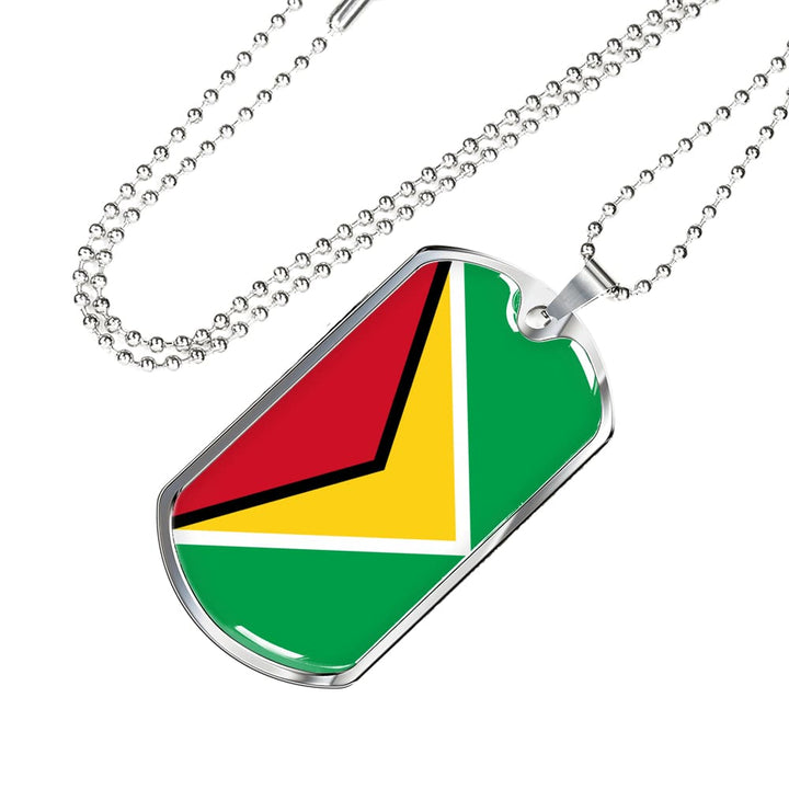Guyana Dog Tag Gold/silver With Custom Engraving - Jewelry