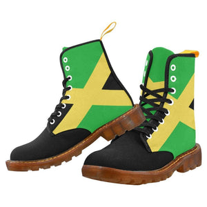 Jamaica Booth Mens Lace Up Canvas Boots (Model1203H) - Boots