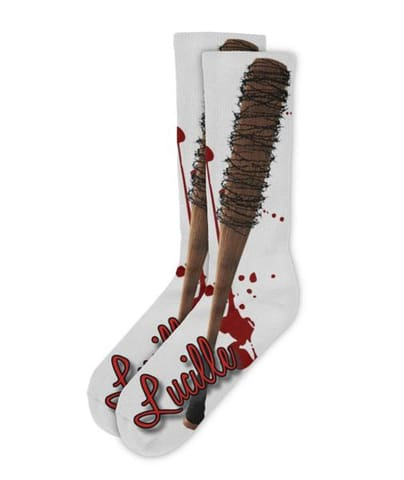 we are negan lucille baseball bat socks .i will shut that down .negan walking dead ''Jeffrey Dean Morgan