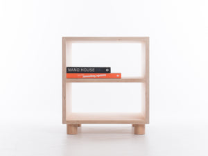 Box Side Table with Shelf