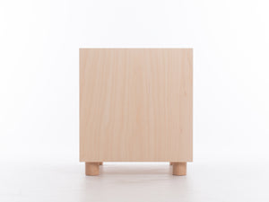 Box Side Table with Drawer