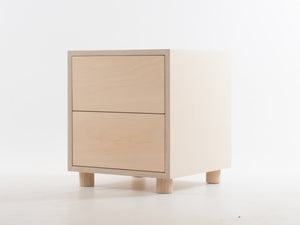 Side Table with Double Drawers