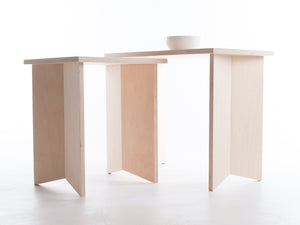 Pair of Nesting Origami Side Tables