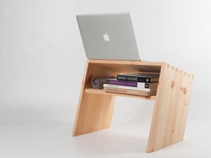 Acute Standing Desk (Pine/Oak) - Bee9  - 4