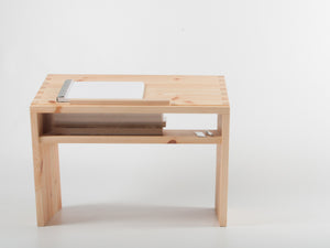 Acute Standing Desk (Pine/Oak) - Bee9  - 8