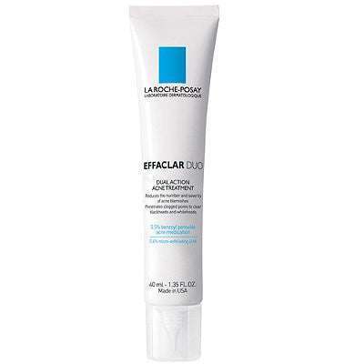 La Roche Posay Effaclar Duo Dual Action Acne Treatment, 1.35 Oz