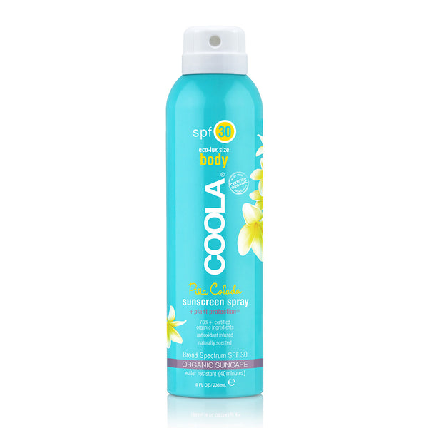 COOLA ECO-LUX 8OZ BODY SPF 30 PINA COLADA SUNSCREEN SPRAY