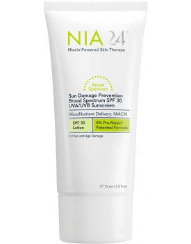 Nia 24 Sun Damage Prevention Broad Spectrum SPF 30 UVA/UVB Sunscreen, 2.5 oz.