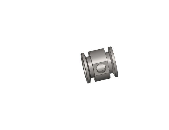 RP-3078: Vacuum Fitting, Adapter Tee, SS, NW25-NW25-1/4