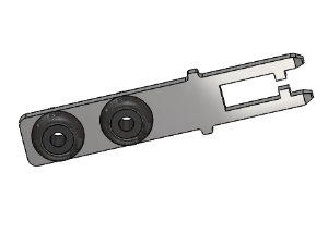 RP-14596: IE10-S2, Safety Lock Actuator, Straight, Rubber-Mounted