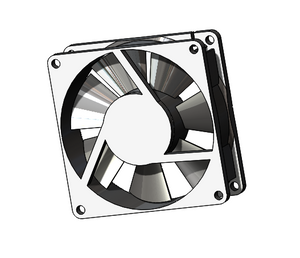 "RP-14759: DC Equipment Cooling Fan, 3.15"" Square x1"" Depth, 46 CFM, 24 VDC"
