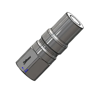 "RP-15603: Stainless Steel Coupling, Plug with 1/2"" NPT Female threads,"